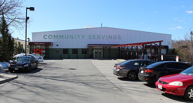 Community Servings has been at its current facilities at 18 Marbury Terrace since 2008. The former warehouse was converted into a mixed industrial kitchen and office space. <br />