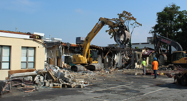"Demolition is underway at 179 Amory Street! With the help of our friends from Shawmut Design and Construction, demolition recently began to make room for a new 31,000 square-foot ""Food Campus."""